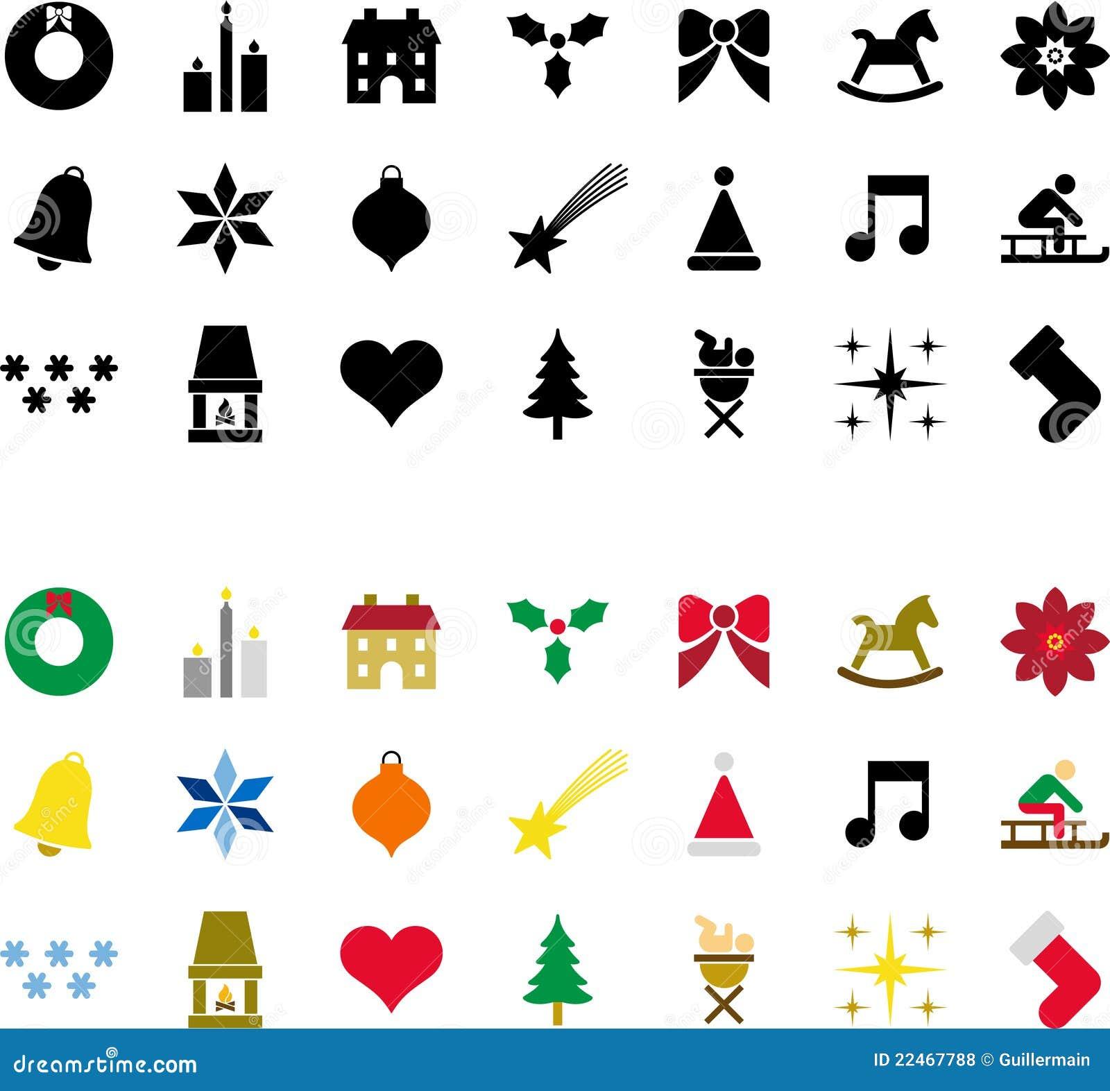 Berühmt Pictogrammes De Noël Photos libres de droits - Image: 22467788 SA61