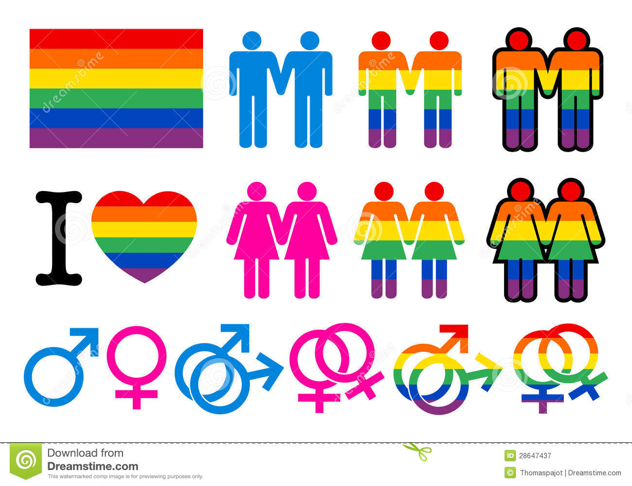 Pictogrammes gay