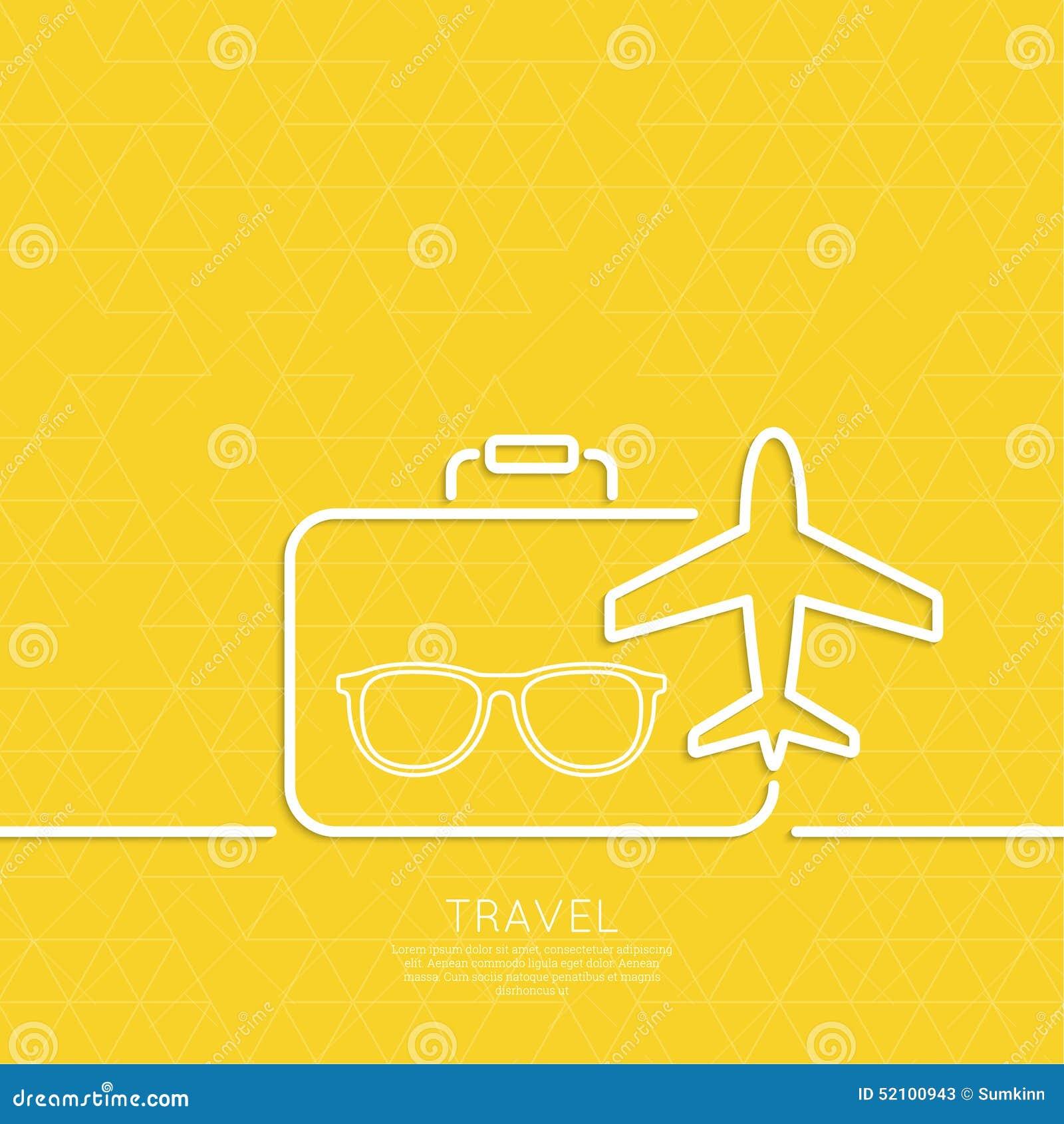 Pictogramvliegtuig en koffer