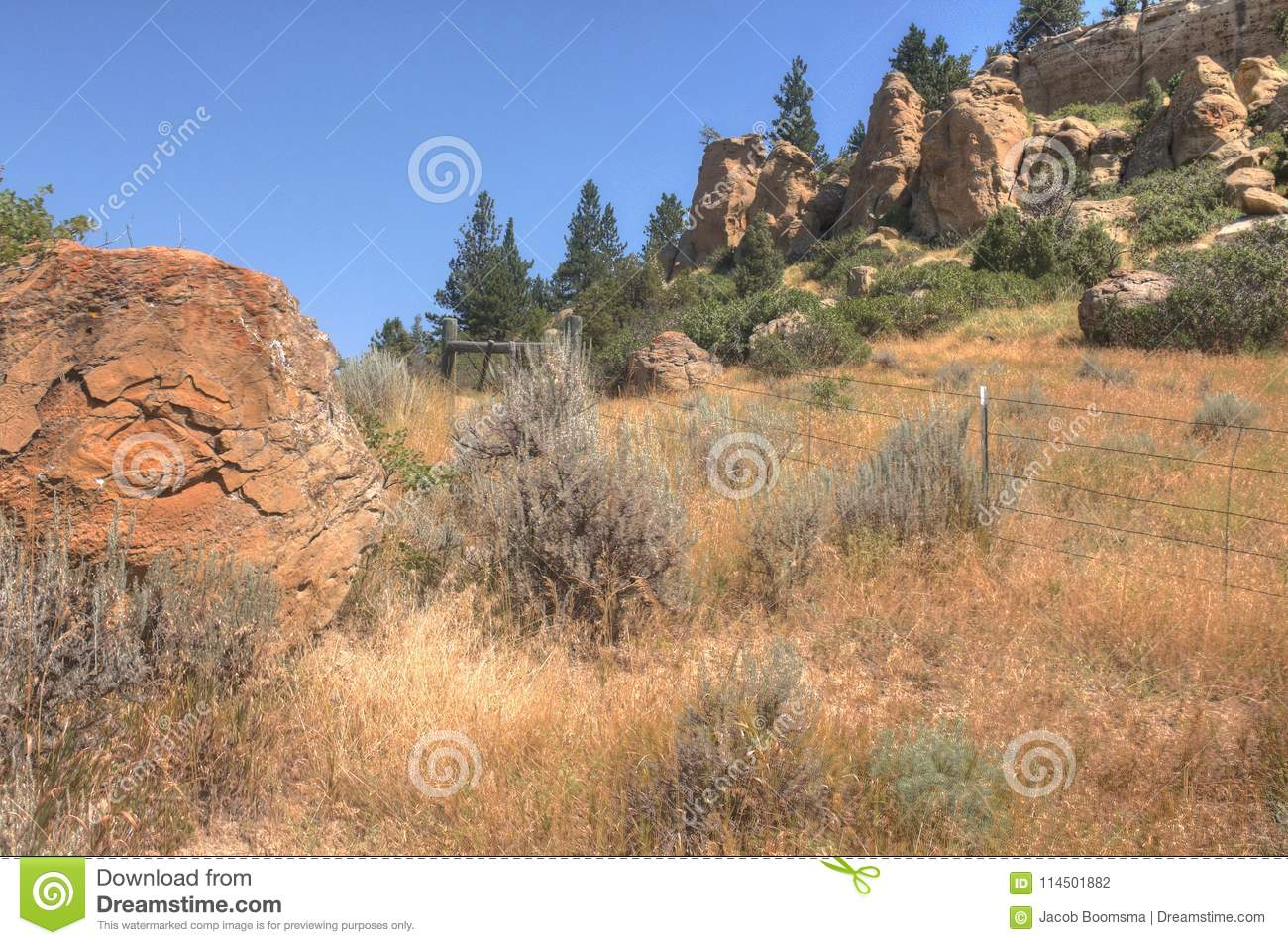 Pictograph State Park outside of Billings, Montana in Summer