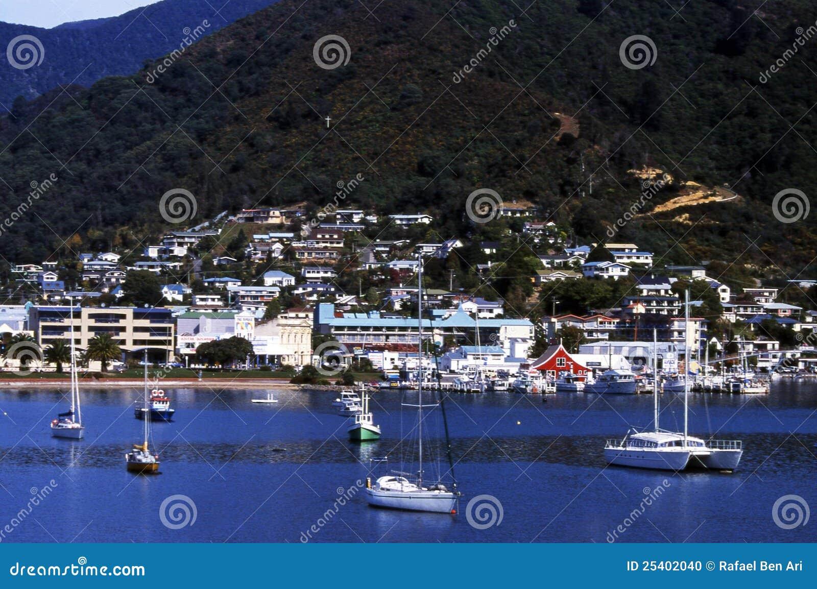 New Zealand Time Image: Picton, New Zealand Stock Photo. Image Of Harbor, Region