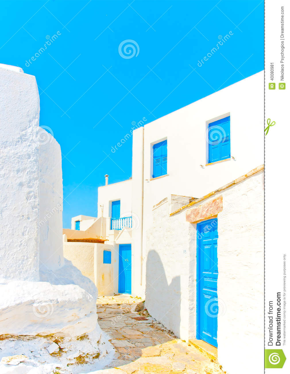 Old beautiful traditional house in chora the capital of amorgos island - Amorgos Beautiful Greece Island Old Road Traditional