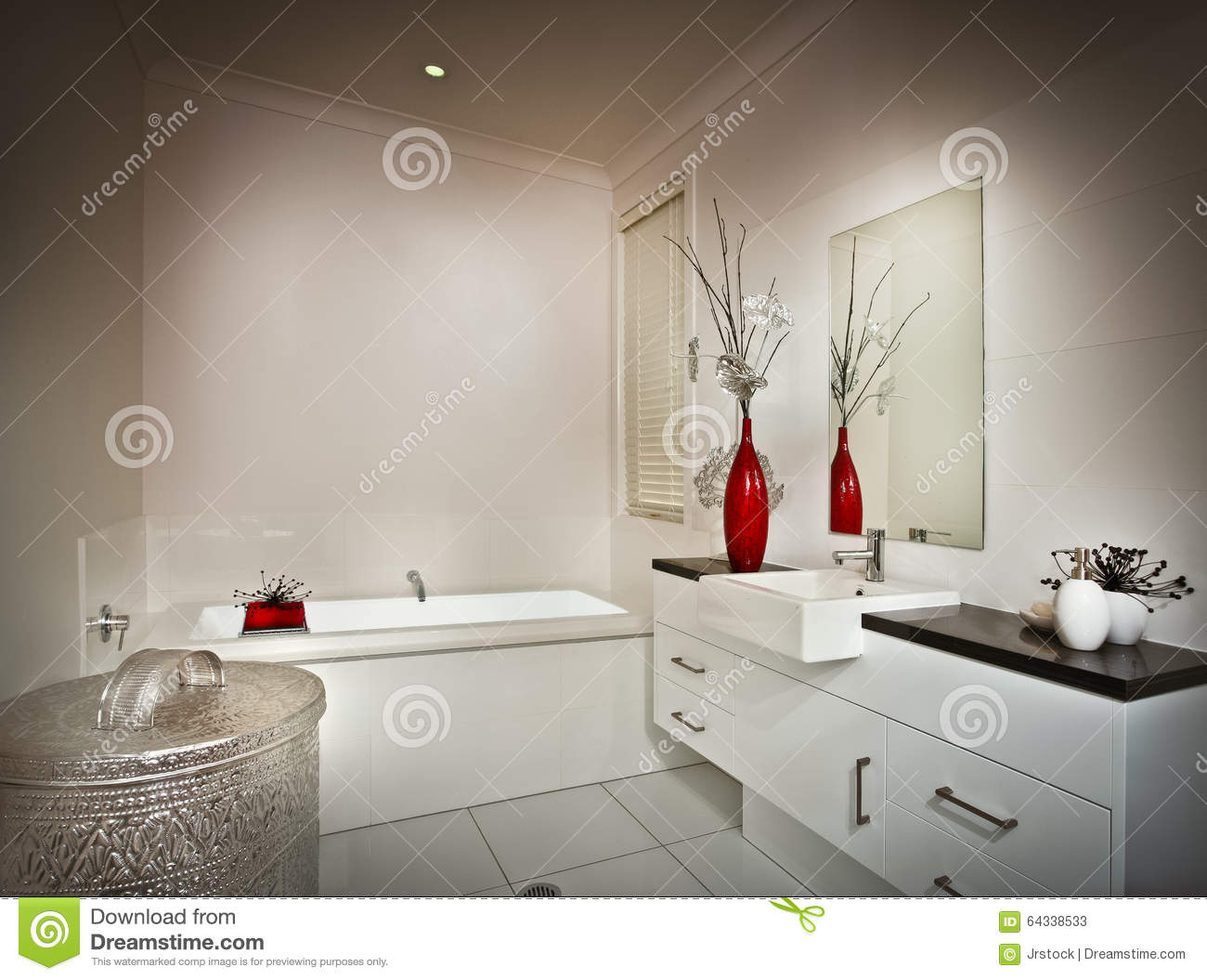 Picture Of A Beautiful White Washroom Stock Image - Image of basin ...