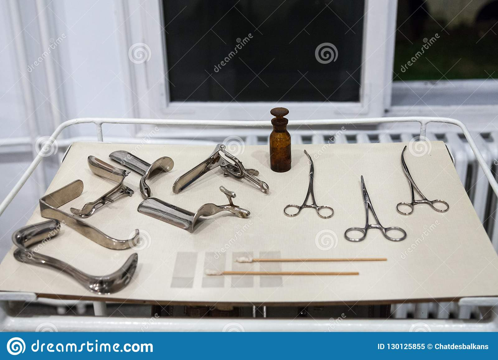 Old Gynecology And Obstetrics Tools, Instruments And Devices