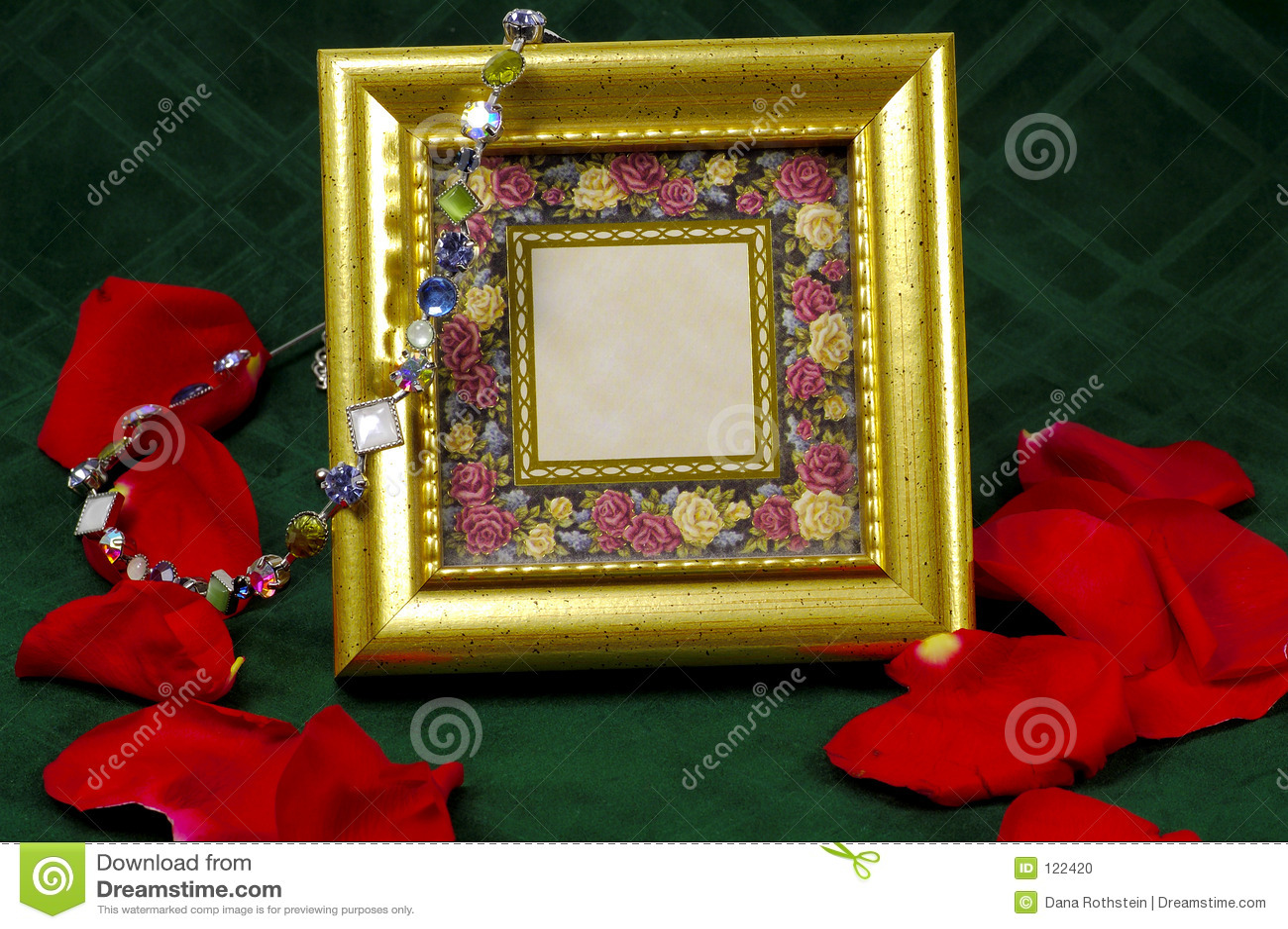 gold frame rose petals - photo #4