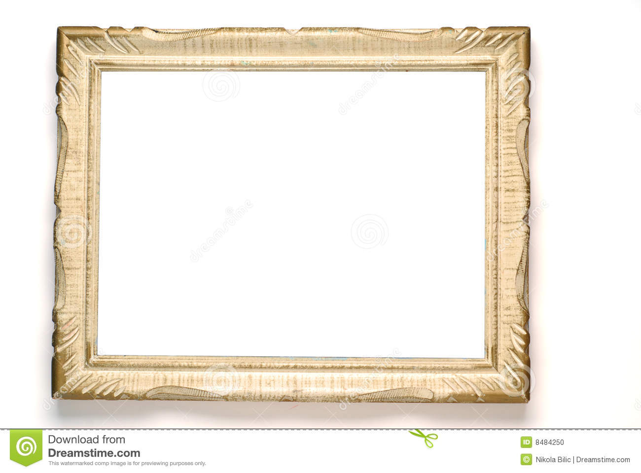 Picture frame stock photo. Image of border, wooden, closeup - 8484250