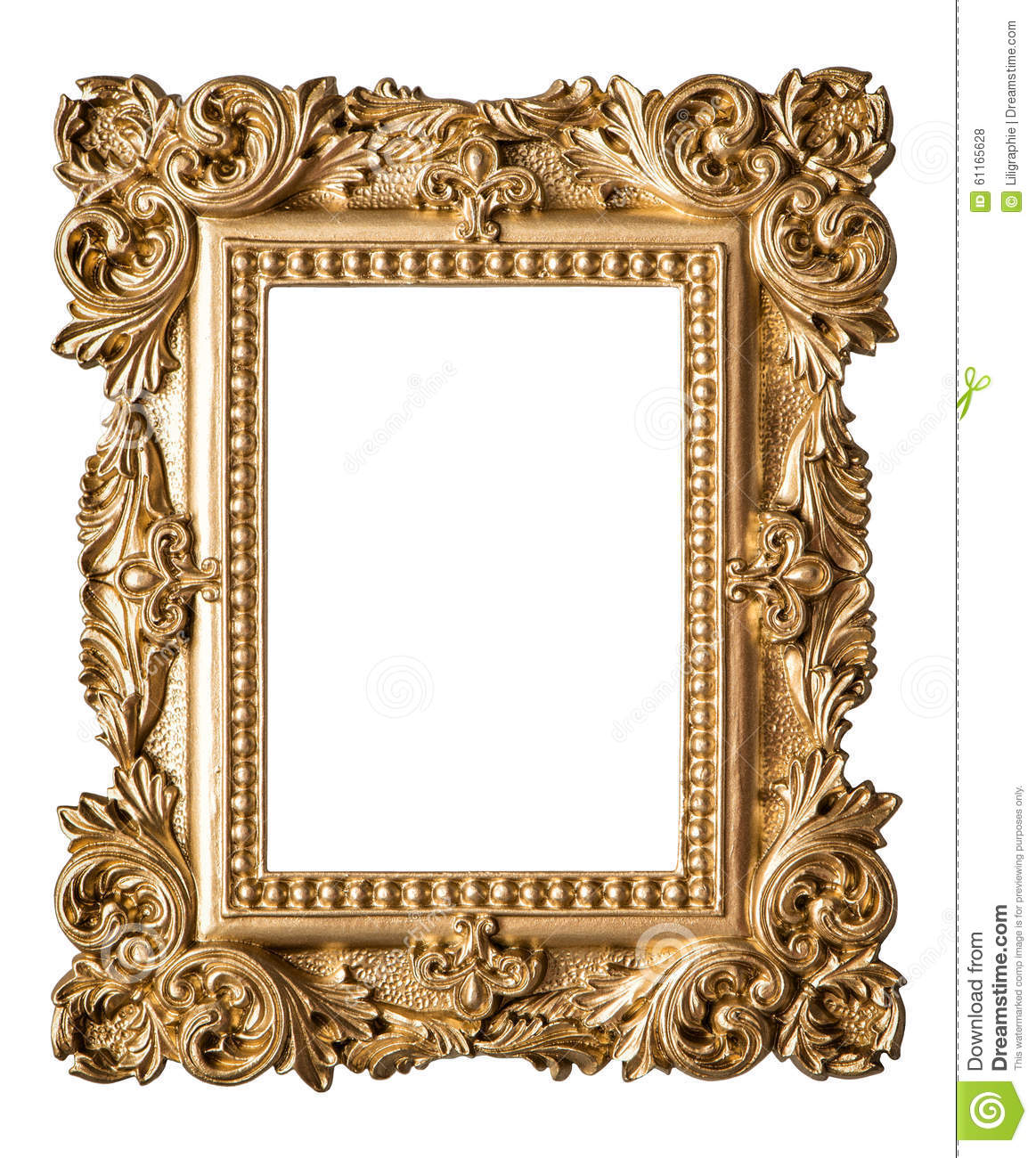 Picture frame baroque style vintage art gold object stock for How to make vintage frames