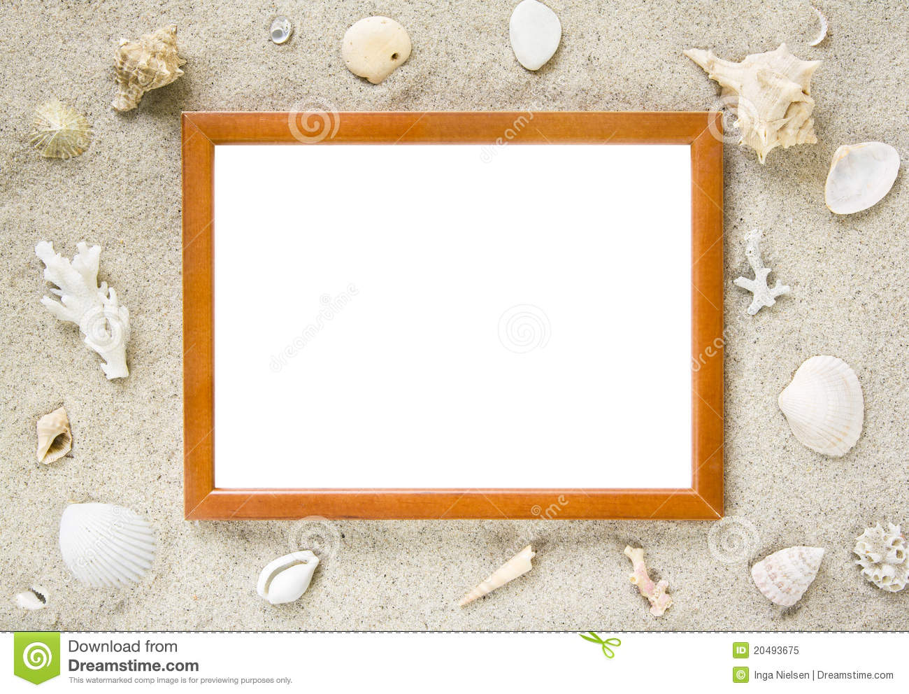 Picture Frame With Beach Theme Stock Image - Image of empty ...