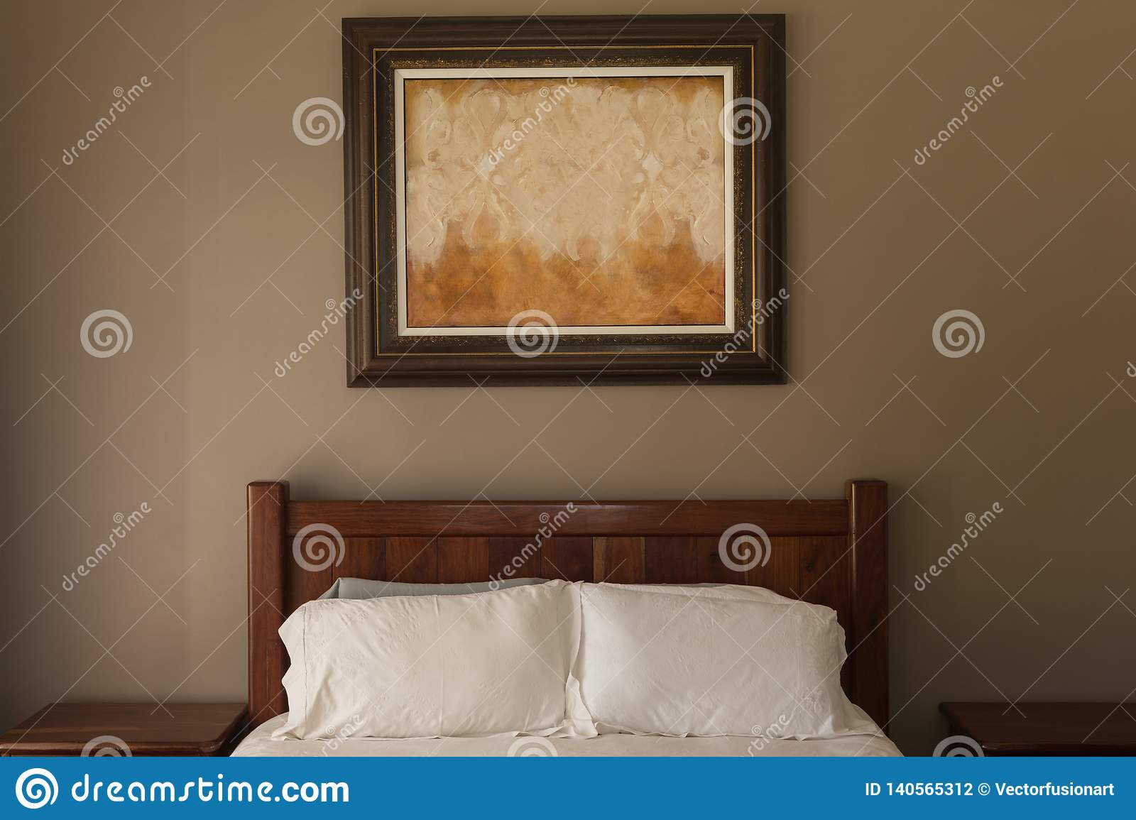 Picture frame in bedroom at home