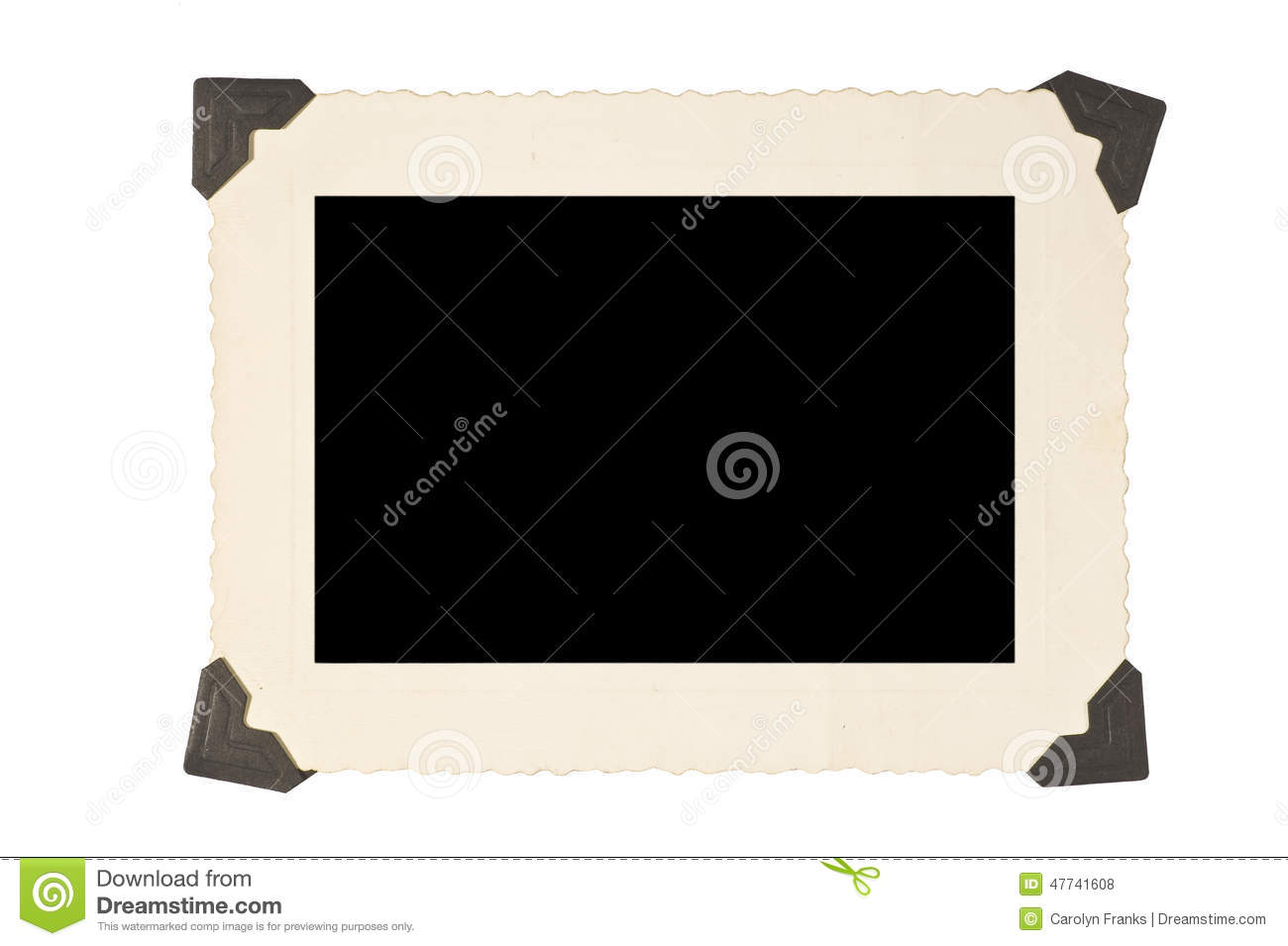 picture frame with corners on white background stock photo