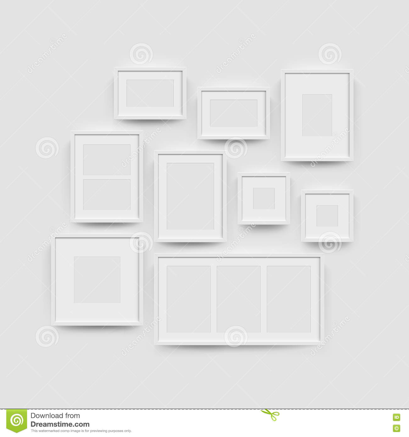 Picture Frame Gallery Set For Photographs Stock Illustration ...