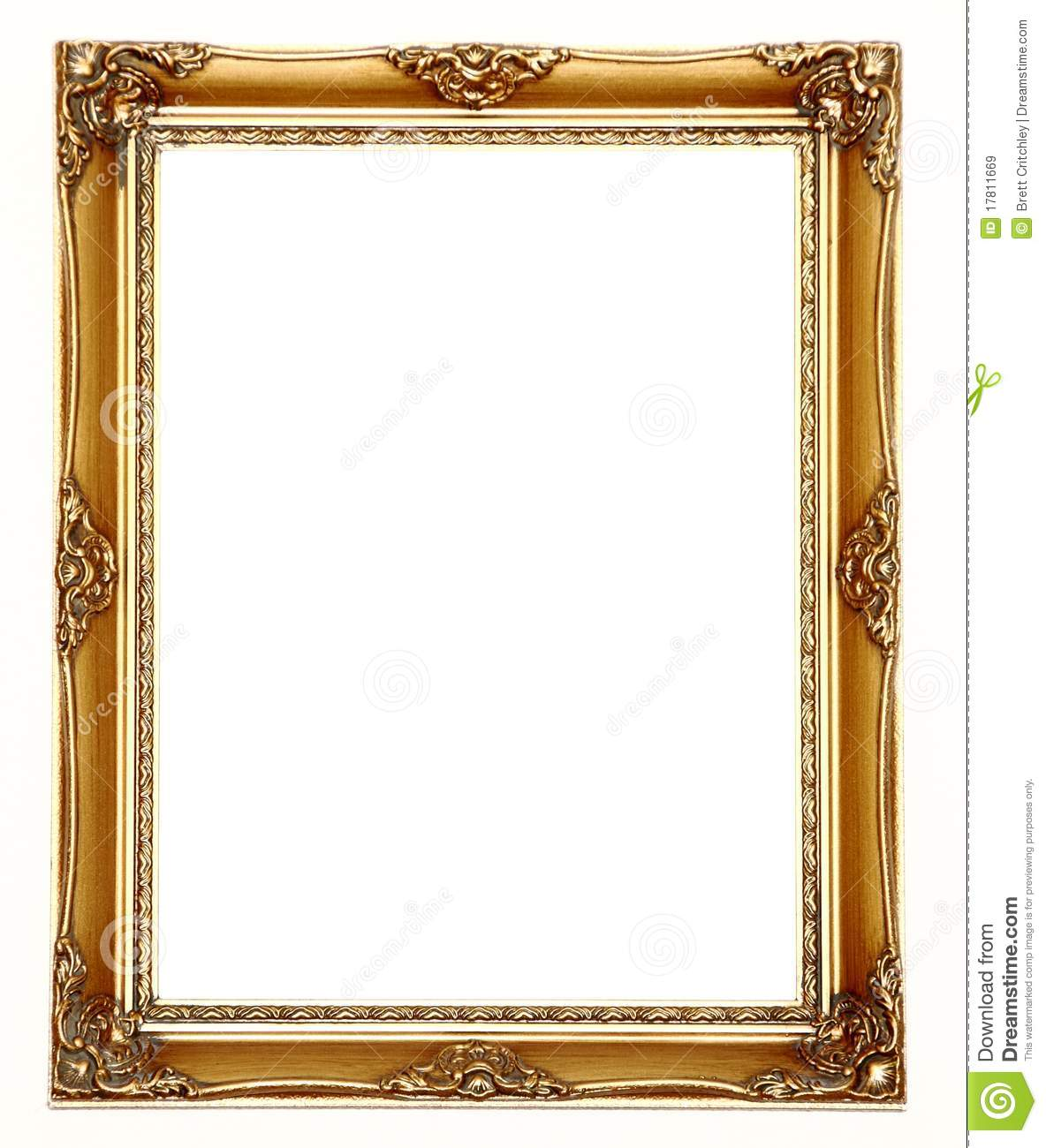 Picture Frame Gold Stock Image Image Of Designer Antique 17811669