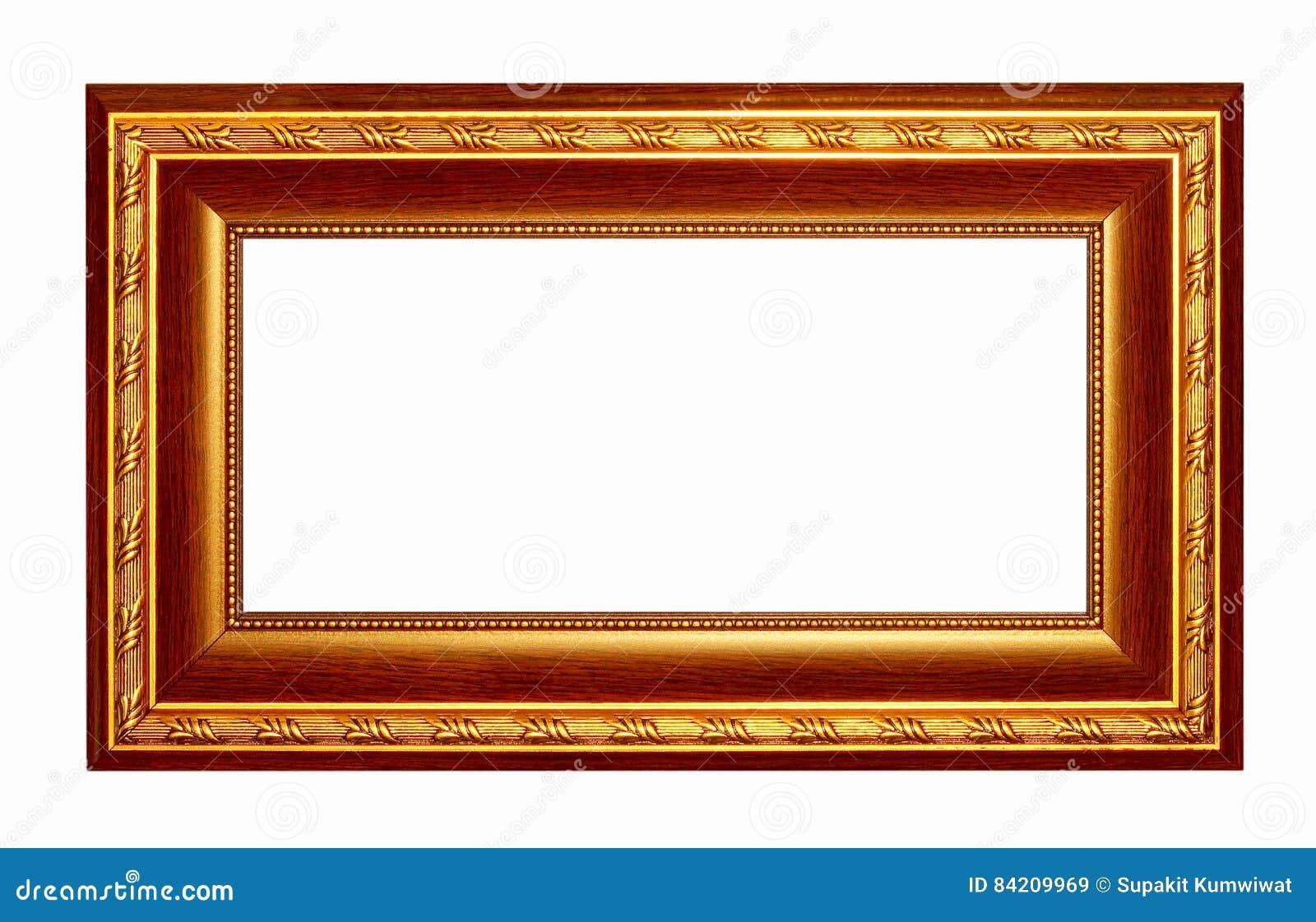 Picture Frame Gold Dark Tones Wood Frame Stock Image - Image of gold ...
