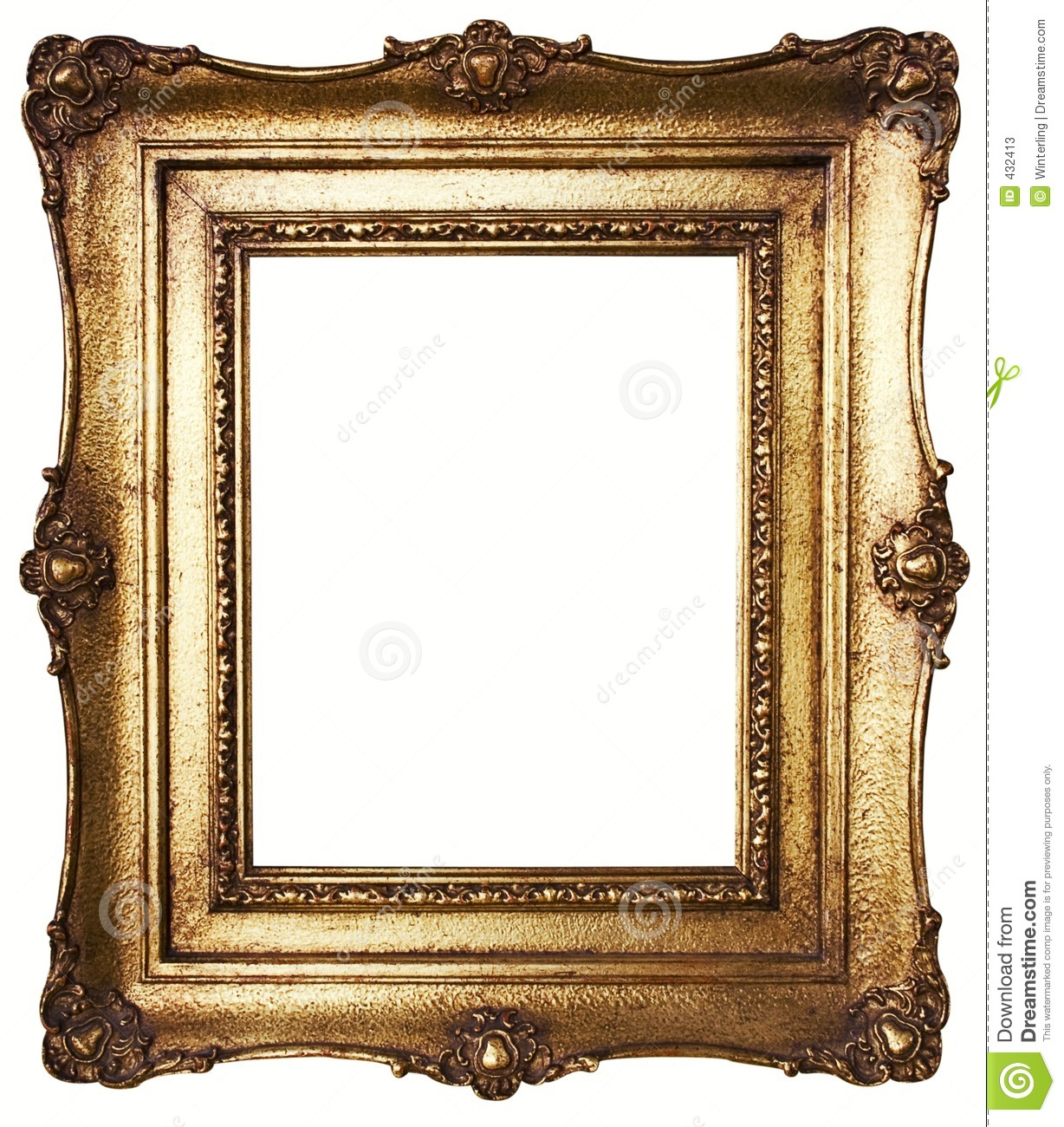 Picture frame gold path included stock image image of for Frame per foto
