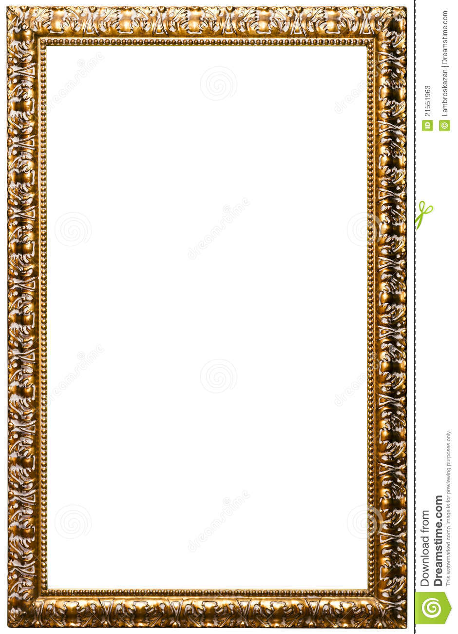 Picture Frame Golden Color No 11 Stock Photos Image
