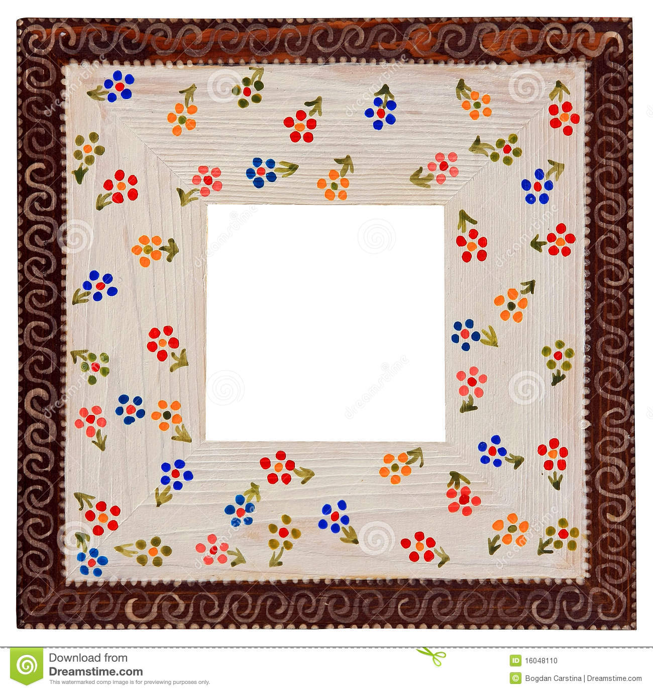 Picture frame - handmade stock photo. Image of floral - 16048110