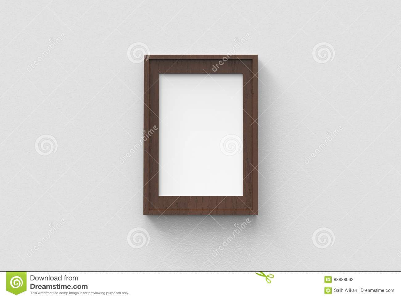 Picture Frame Isolated On White Drywall Background Stock ...