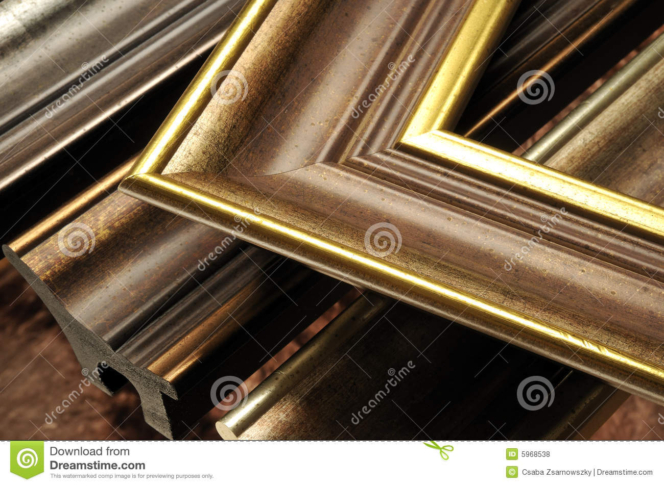 Picture frame mouldings stock photo. Image of pictureframe - 5968538