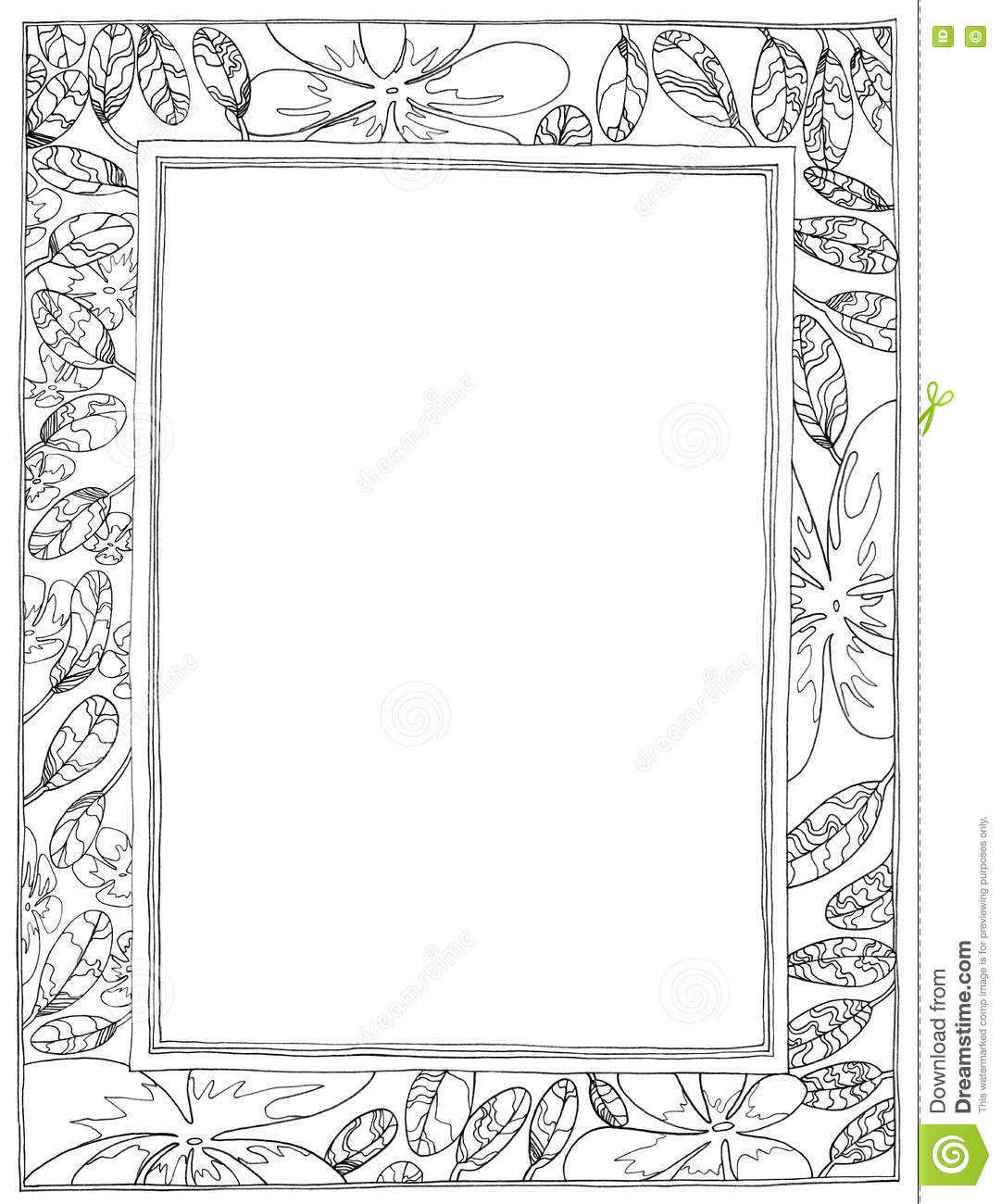 picture frame plumeria applied arts stock illustration illustration of applied nature 74021632 dreamstime com