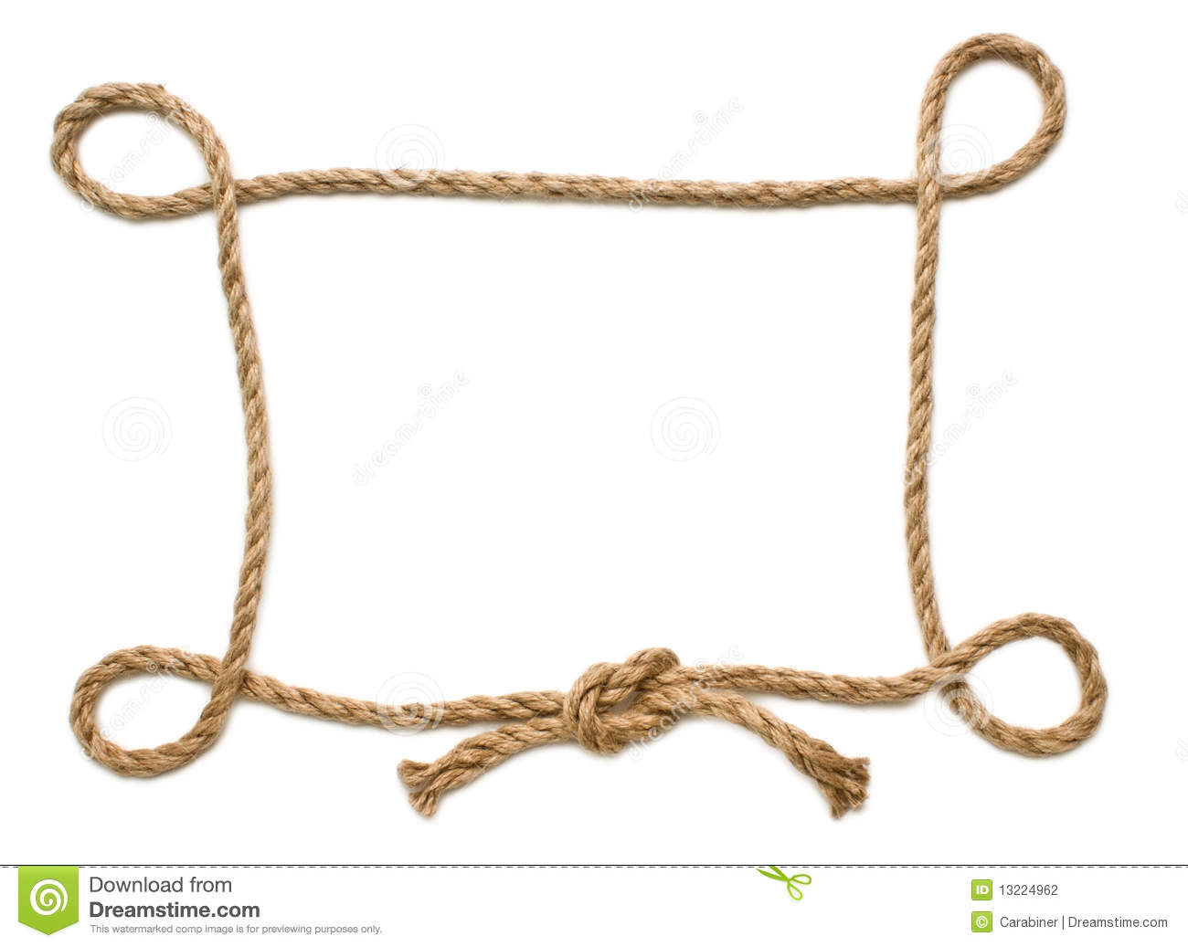 Picture frame of rope stock photography image 13224962 Rope photo frame