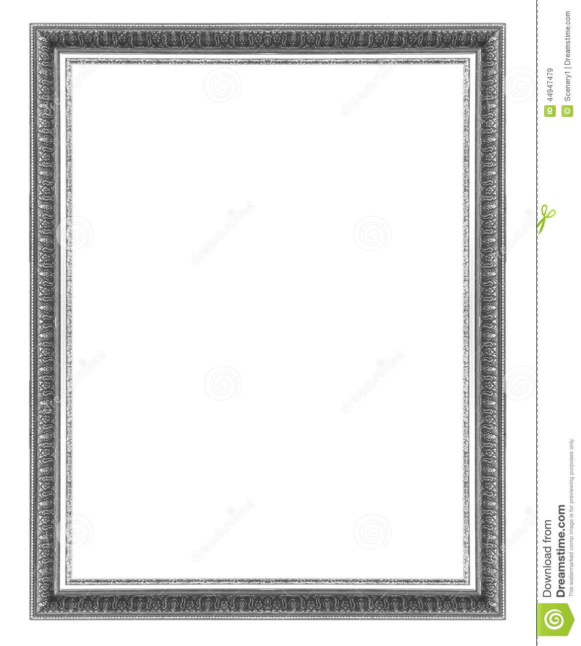 Picture Frame Silver stock image. Image of background - 44947479