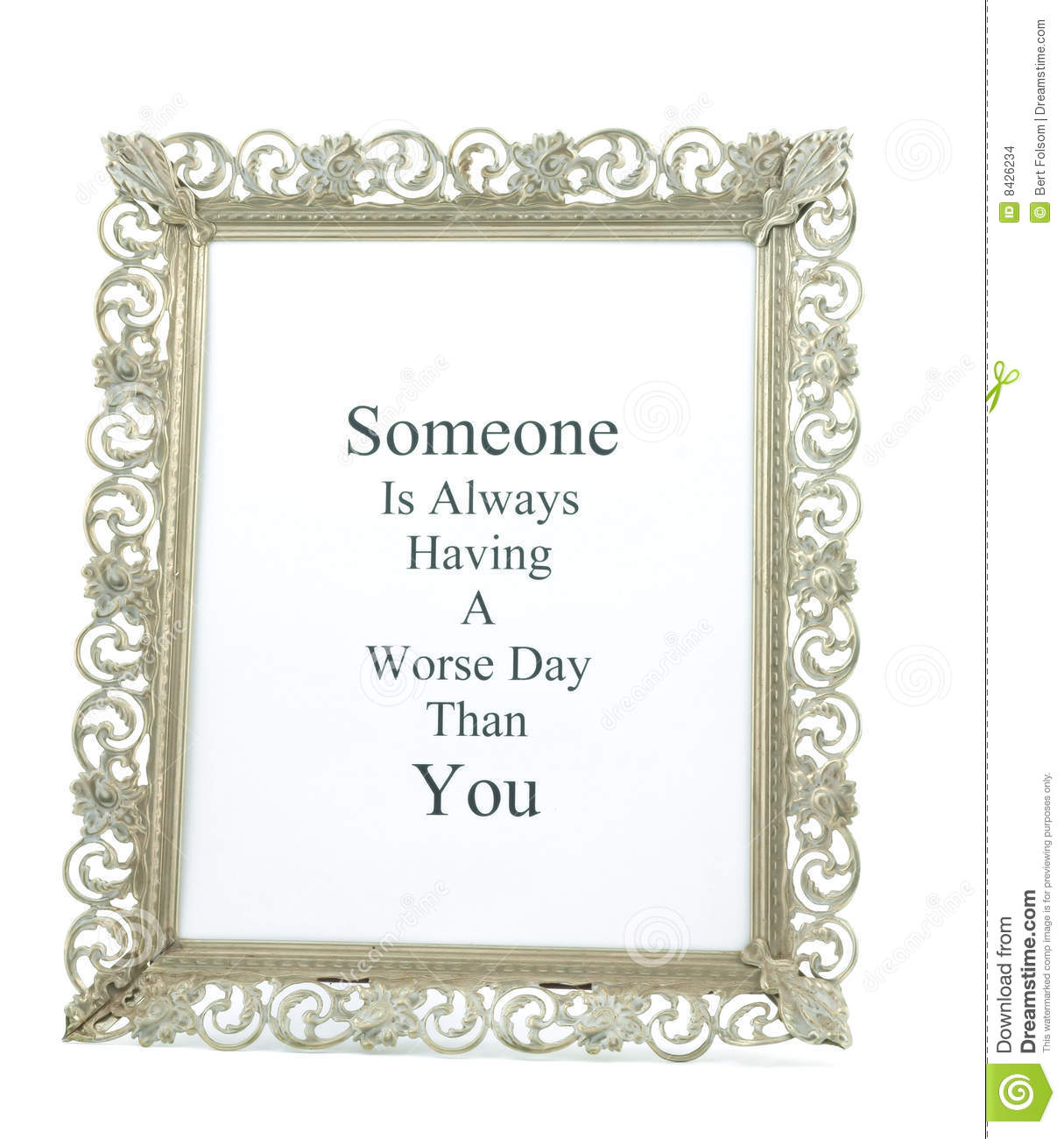 Picture frame with wisdom saying