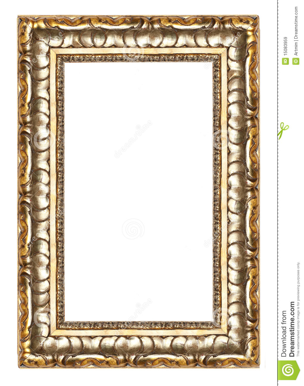 Picture Gold Frame With A Decorative Pattern Stock Image - Image of ...