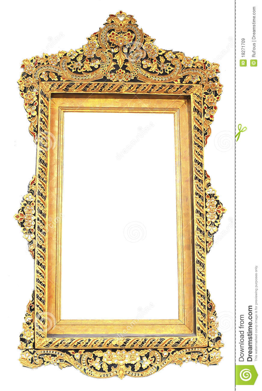 Picture gold frame Thai style
