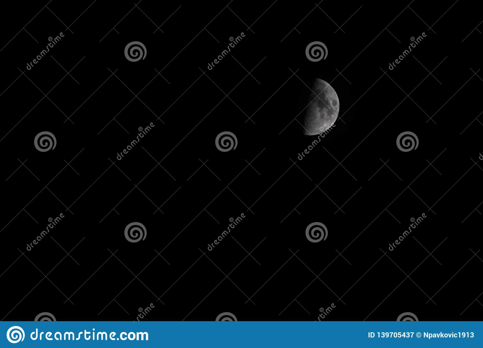 Picture of a half moon