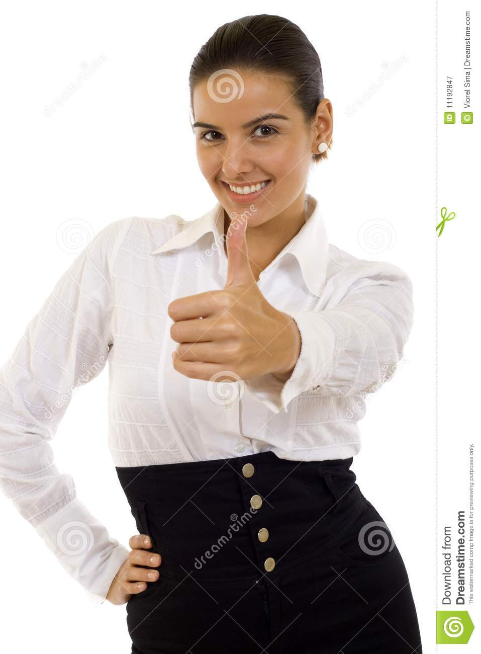 Picture of happy successful businesswoman