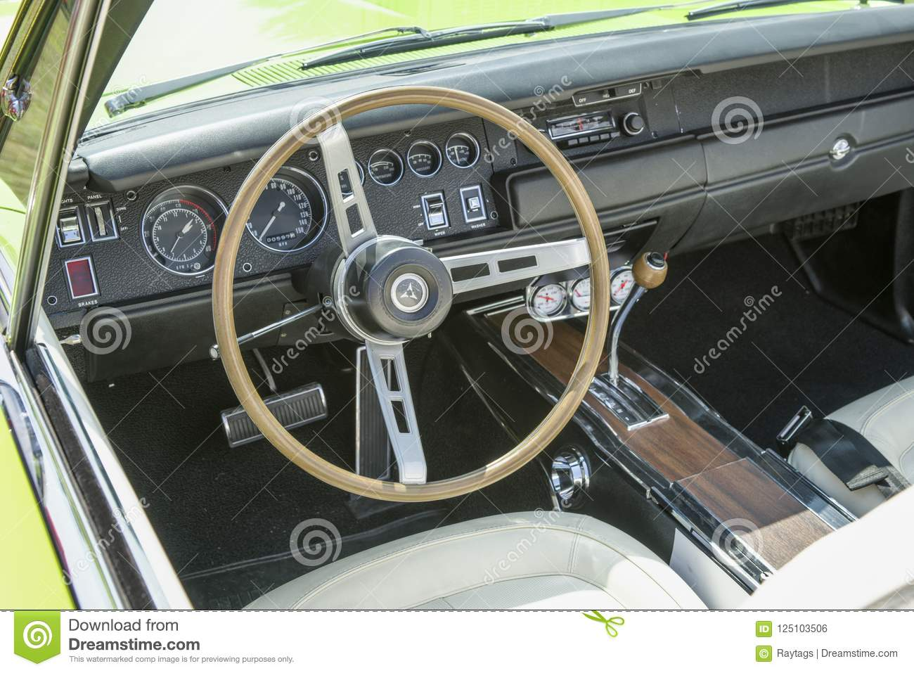 Muscle Car Interior Editorial Photo Image Of Auto Autos 125103506