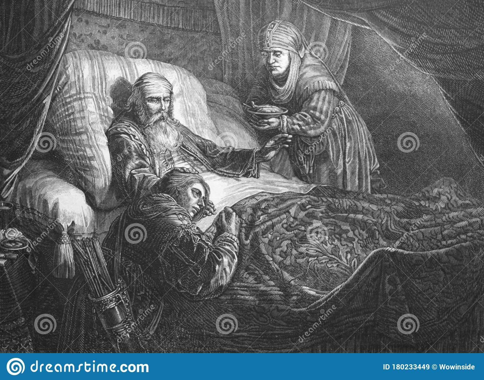 Picture Of Isaac Blessing Jacob In The Old Book Des ...
