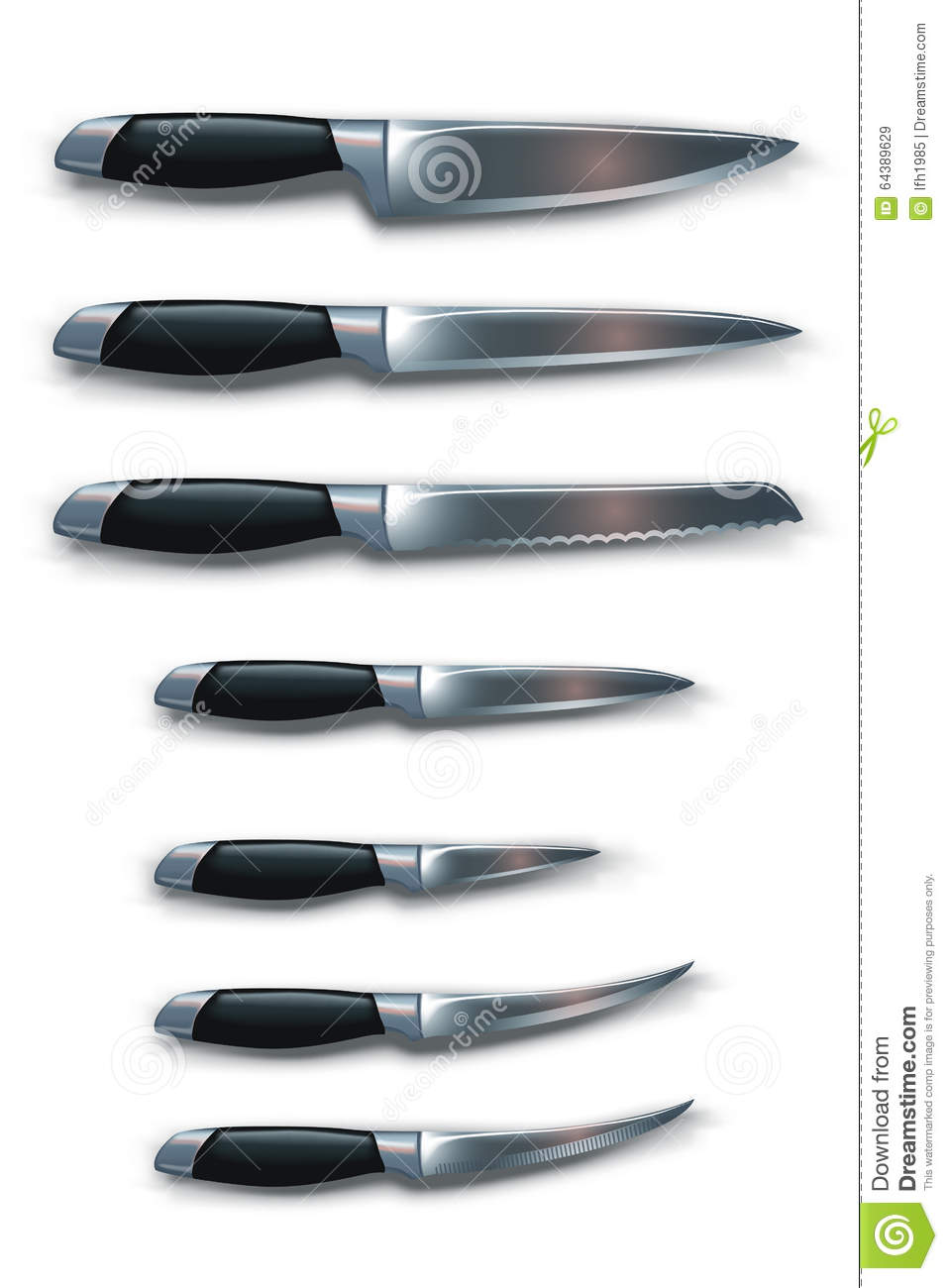 Picture Of Knives Stock Vector - Image: 64389629