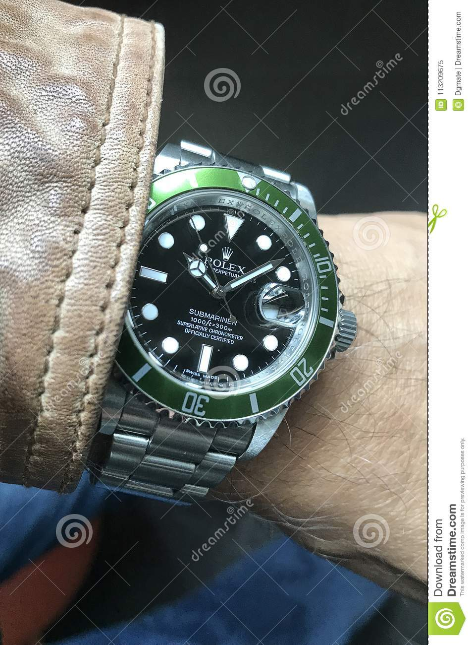 Expensive Rolex Watch Editorial Image Image Of Hands 113209675