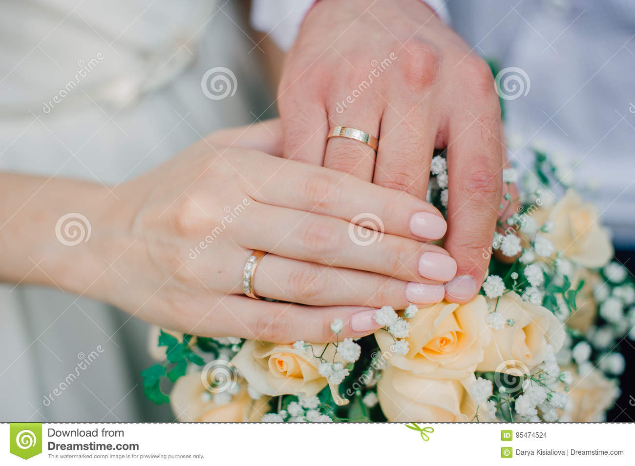 Picture Of Man And Woman With Wedding Ring Stock Photo - Image of ...