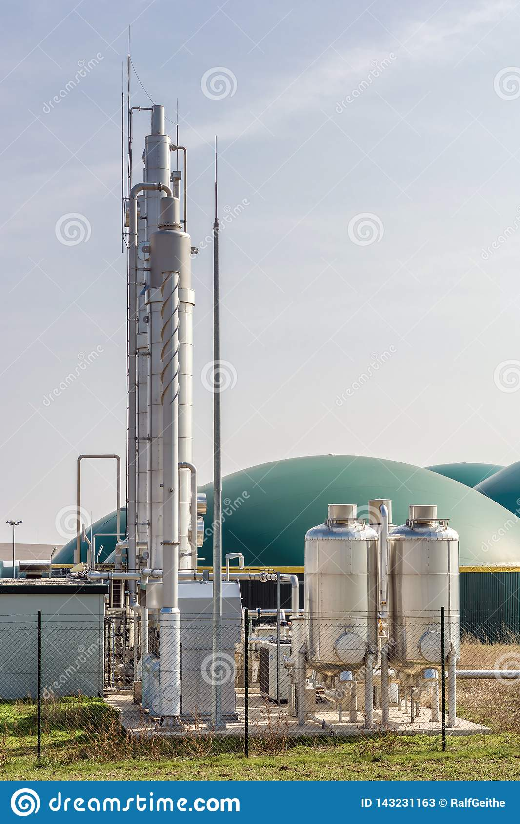 Modern Biogas Plant For The Production Of Electricity, Heat