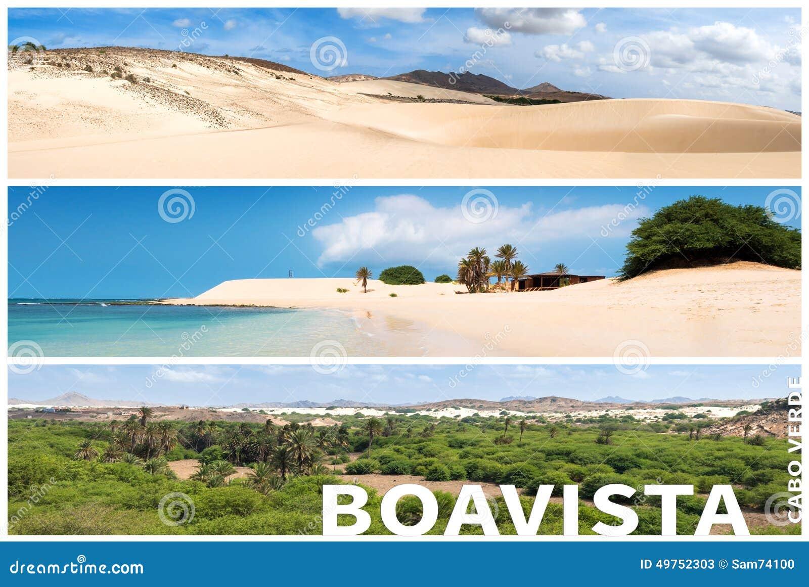 picture montage of boavista island landscapes in cape. Black Bedroom Furniture Sets. Home Design Ideas