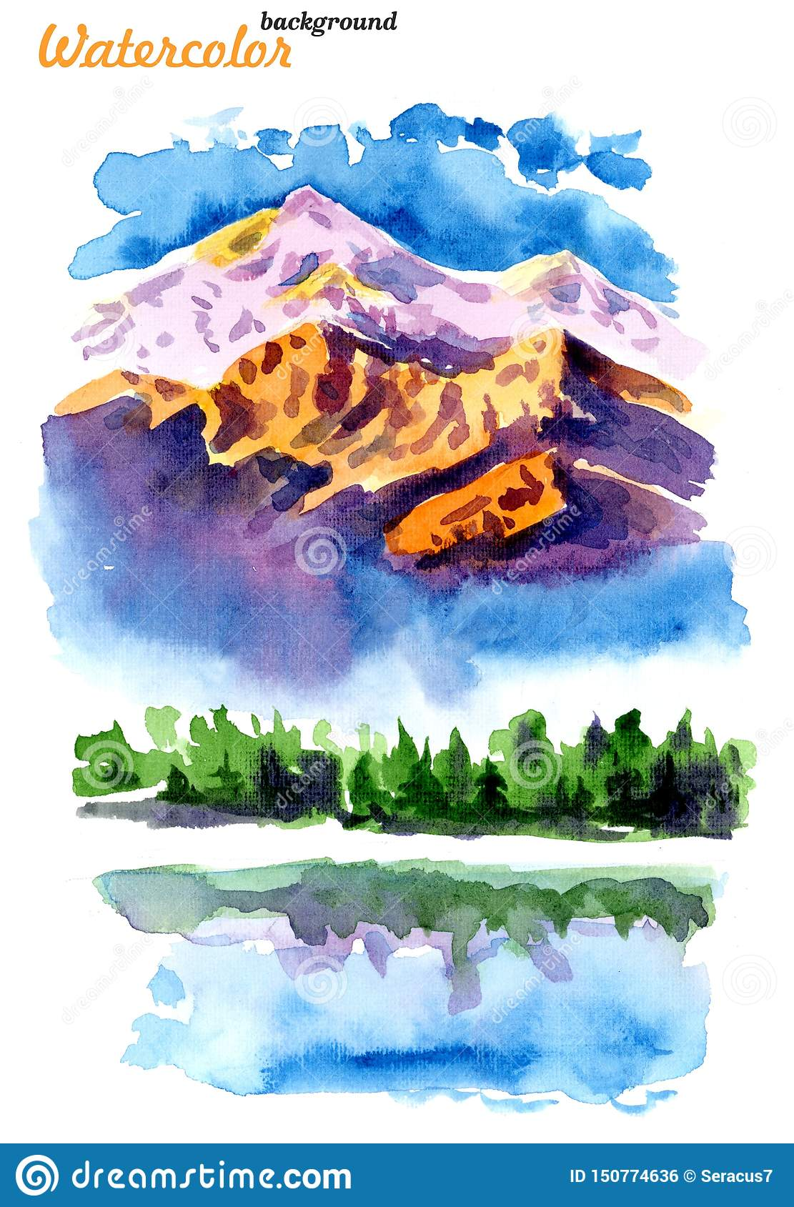 Picture of mountains and lakes