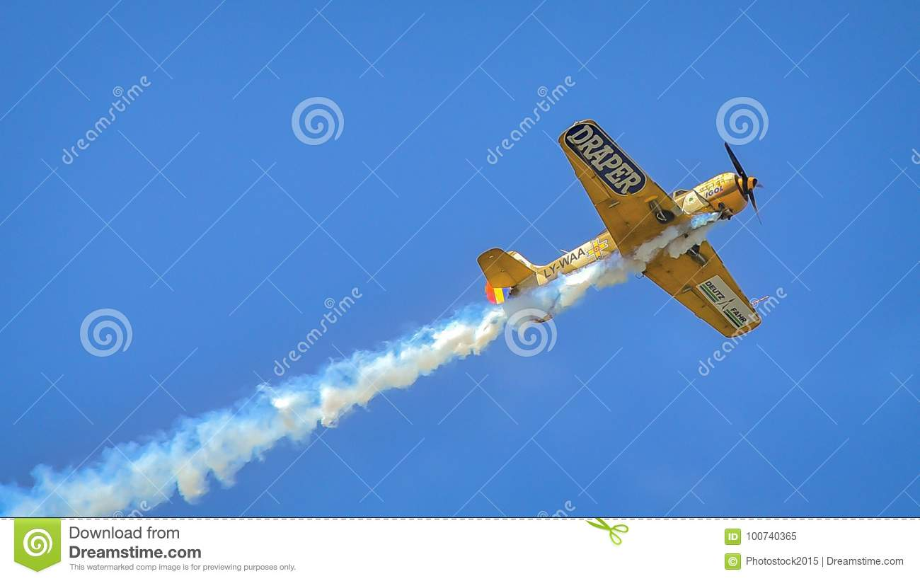 Old Military Plane At Bucharest Aeronautic Show Editorial Image