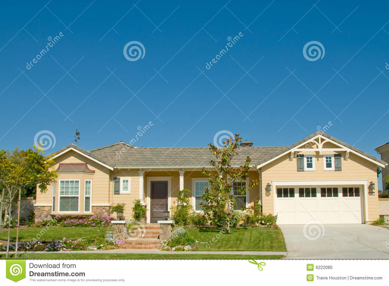 Picture Perfect Home In Nice Community Stock Photo Image