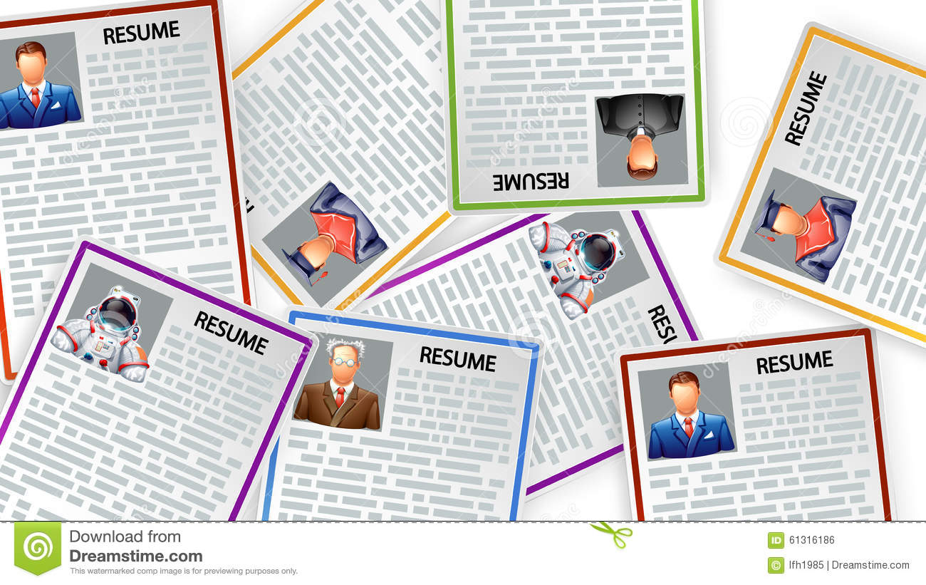 picture of resumes stock vector  image of paper  interview