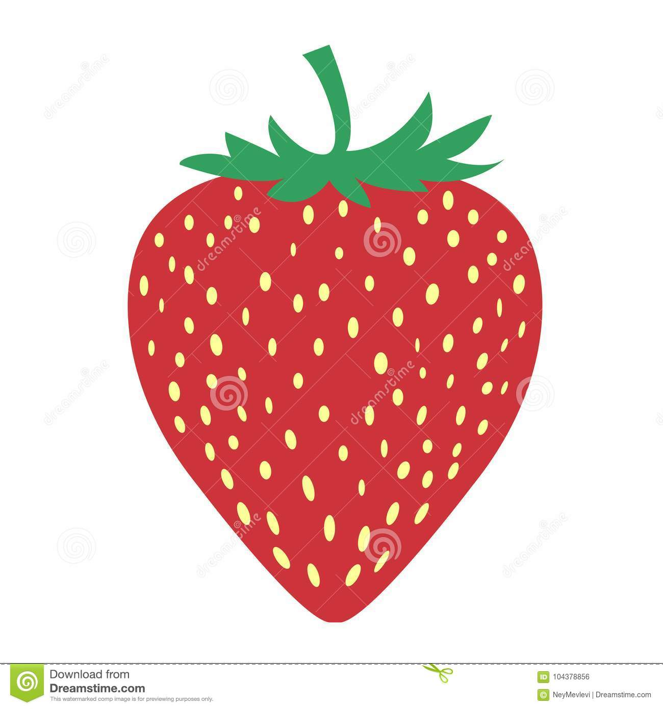 The picture of strawberry fruit is very simple