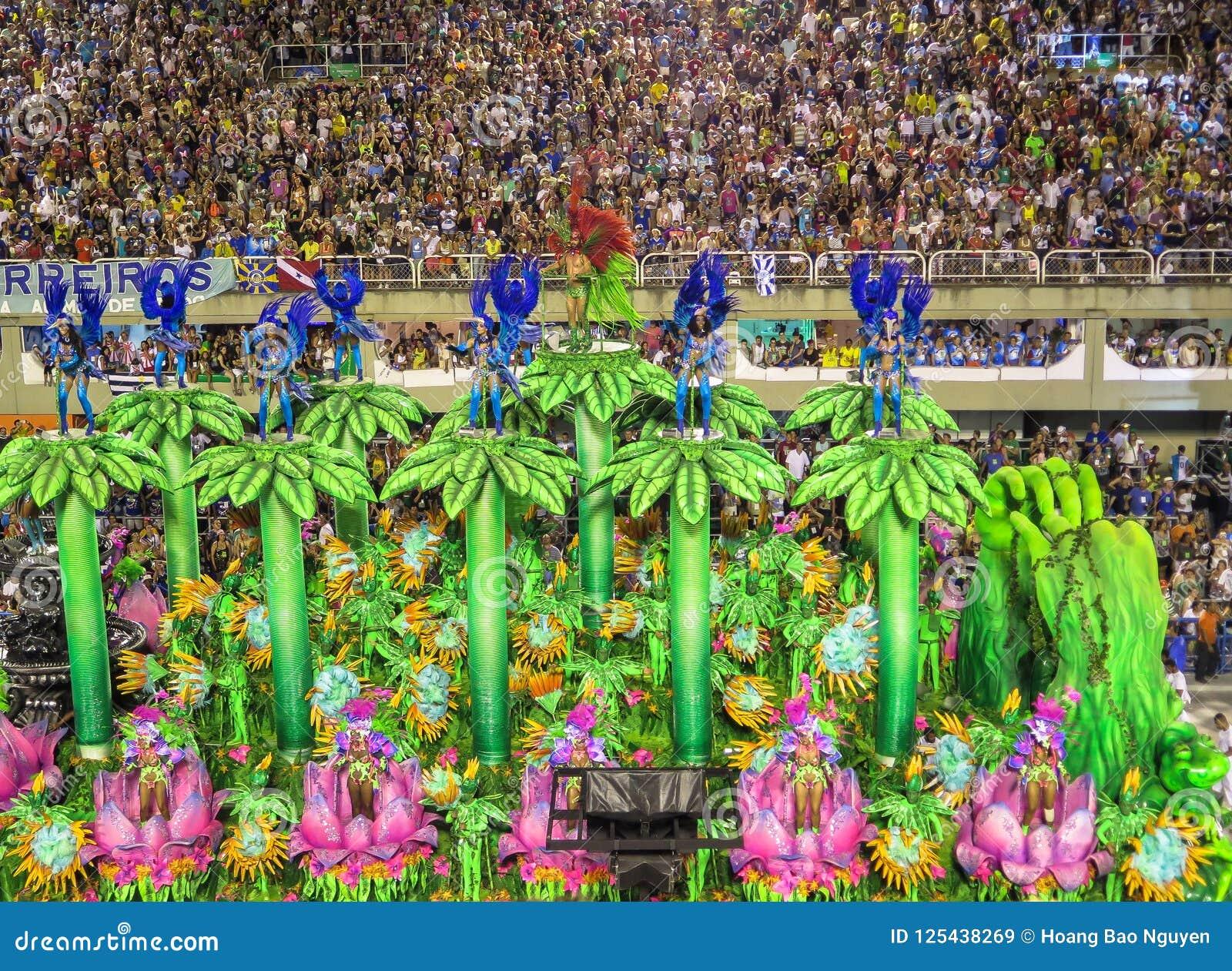 Brazilian Coloful Carnival In Rio De Janeiro Editorial Stock