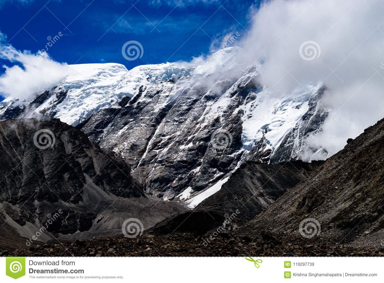 Snow Covered Annapurna Circuit