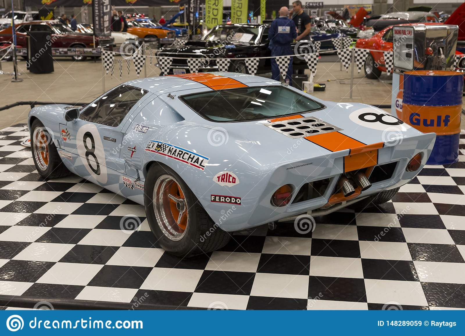 Ford Gt40 Rear Side View Editorial Stock Image Image Of Decals 148289059