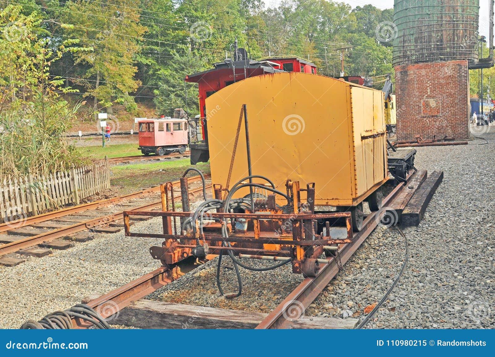 Railroad Tie And Rail Repair Car Editorial Image - Image of