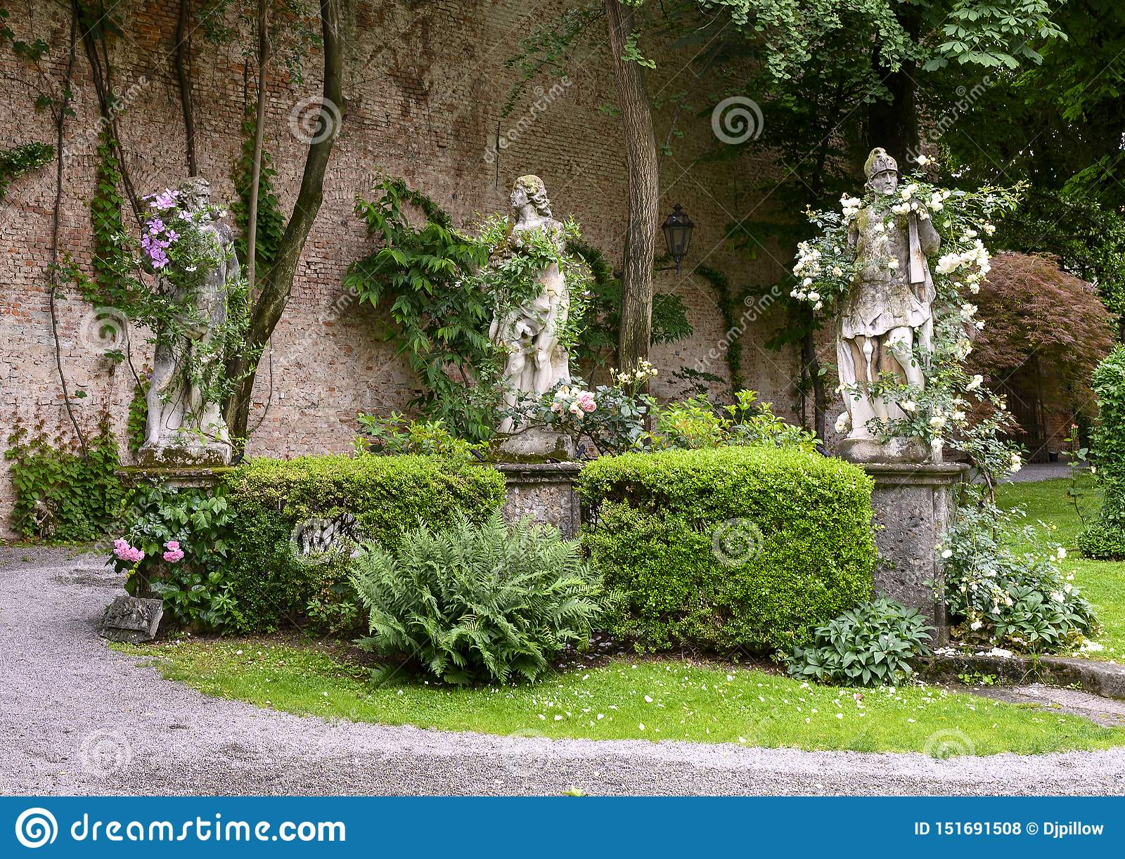 Sculptures In The Garden Of The Atellani House Museo Vigna Di