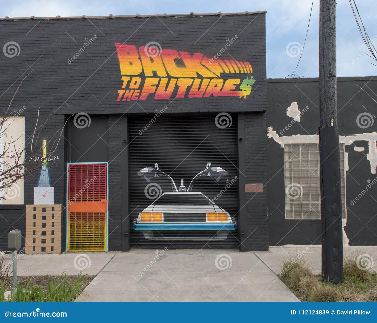 Garage Door Art Mural In Deep Ellum Dallas Texas Editorial Stock