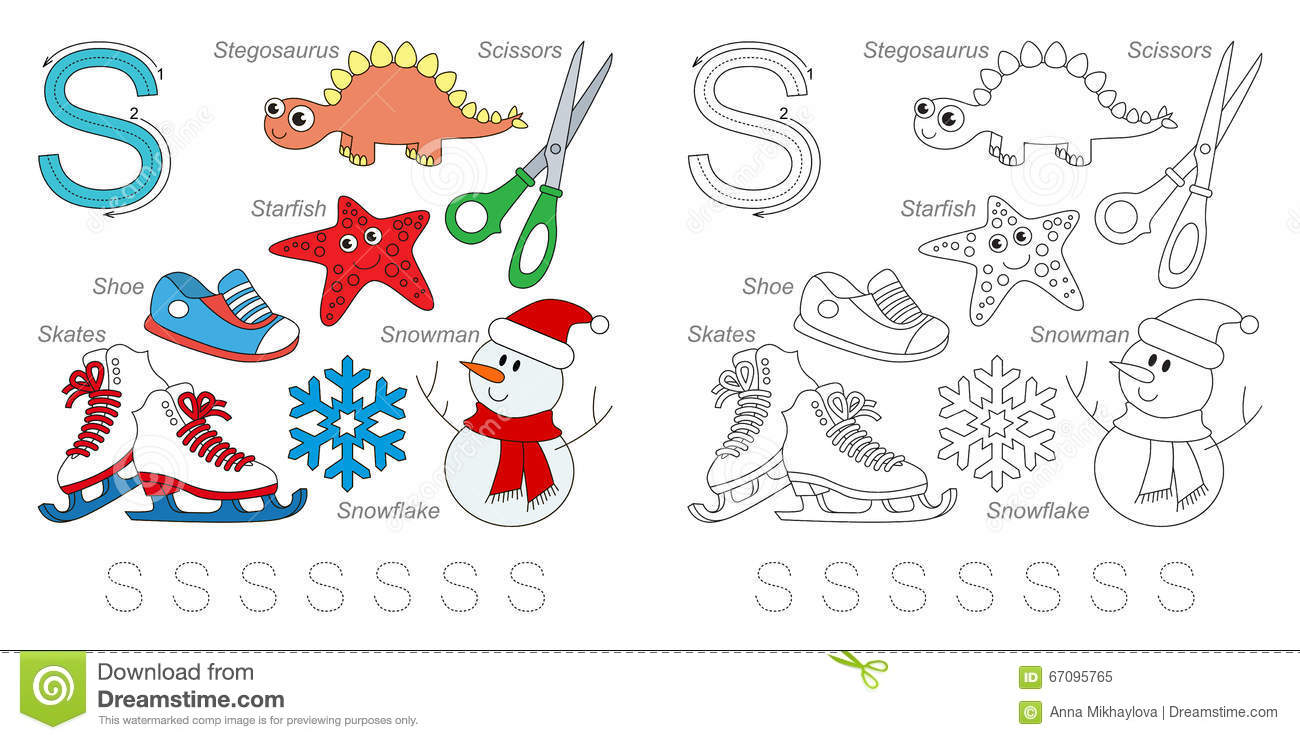Pictures for letter S