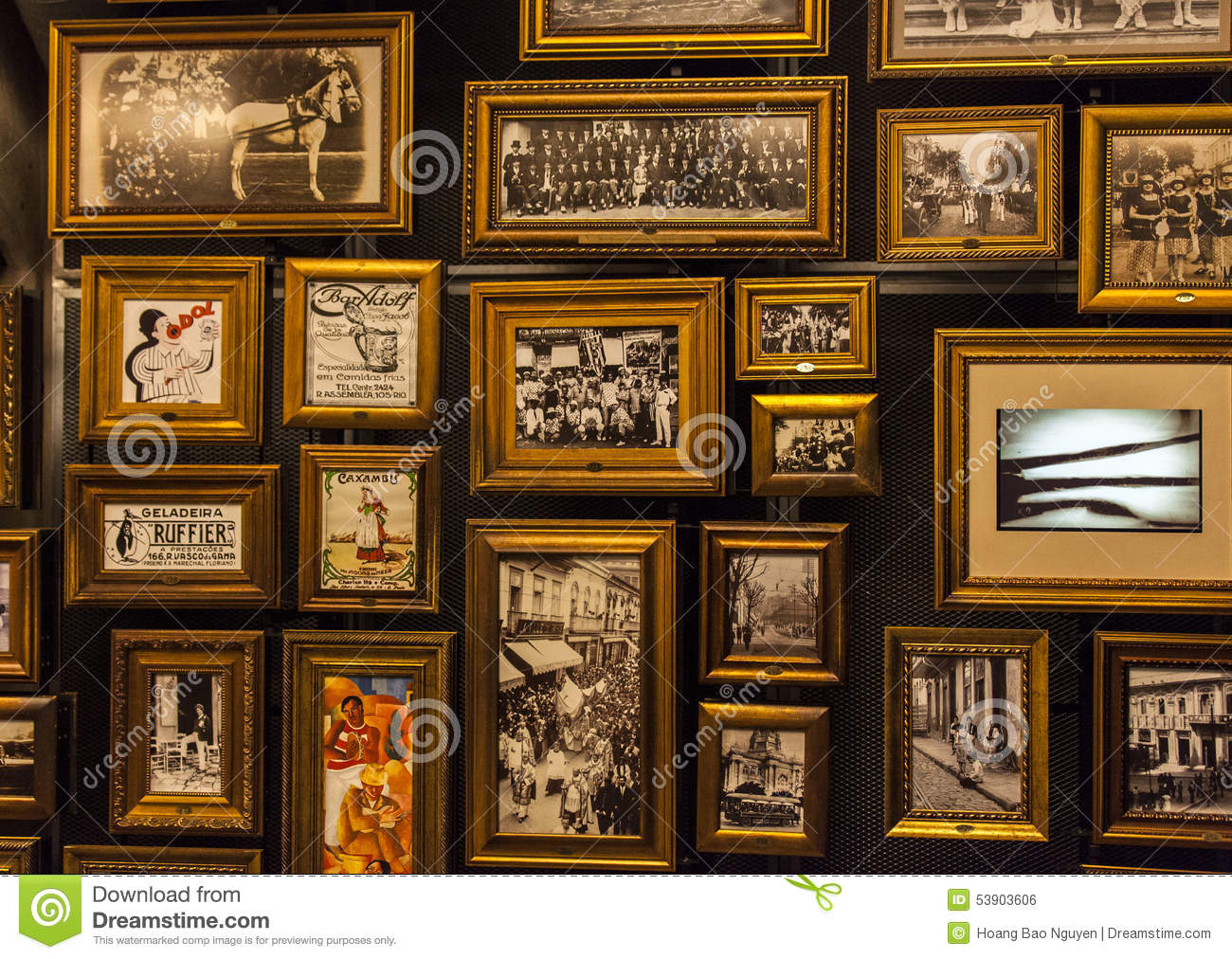 Pictures in Museum of football in Sao Paulo, Brazil